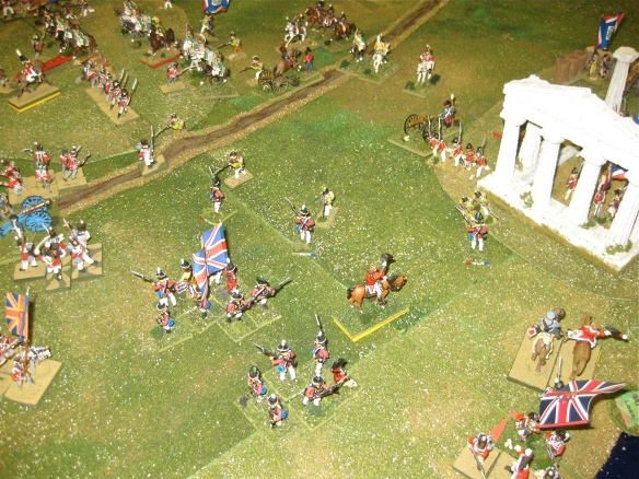 As the French dragoon charge is sounded, the 5th Foreign brigade under Stuart advances against the French occupied roman ruins.