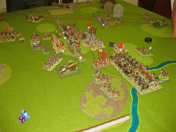 Cavalry catch a pike block in flank while lowly firelock infantry think it is time to run.... fast.