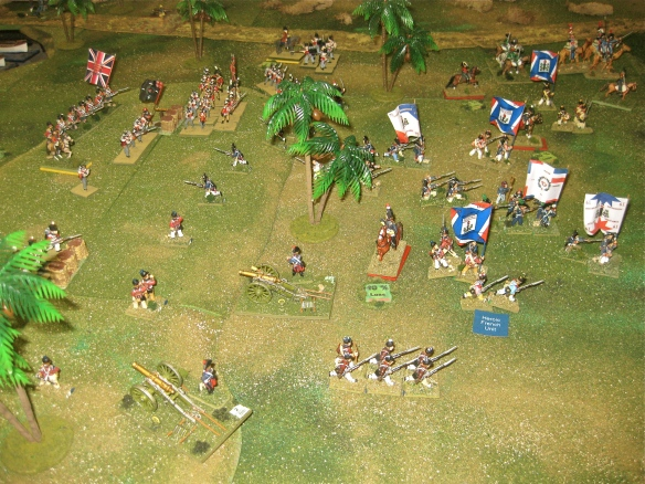 The French army has enough of this battle. Nearly reaching their MFP and Army Fatigue point, they start to disengage from the British brigade reimants on the hill.