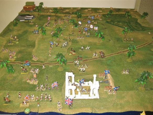 Scenario end, the French are retiring in order from the battlefield.