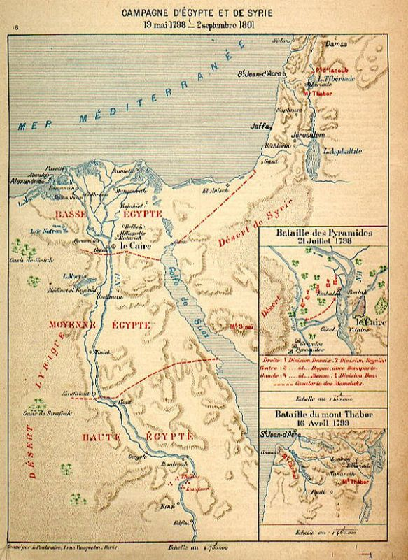 Egyptian campaign map.