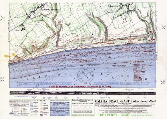 BIGOT Omaha Beach map East section.