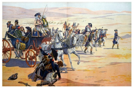 French army crossing the desert to Cairo.