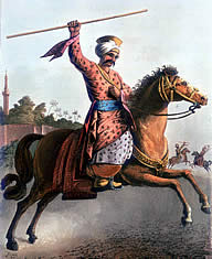 Typical Mamluk cavalry. Compare to the French Imperial Guard version of the Mamelukes.