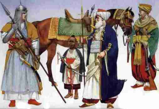 Mamluk cavalry.