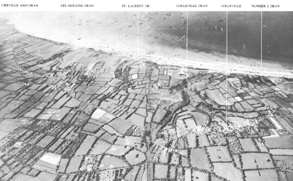Omaha Beach aerial view.