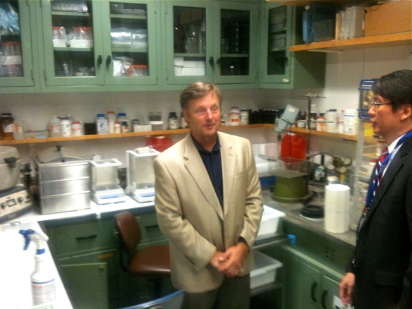 Brother Neil standing in the actual laboratory space where Dad did his lab work. See the video for walk about viewing.