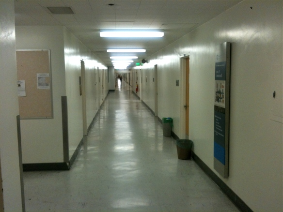 East hallway the same.... imagine a young boy roaming the hallway far into the distance.