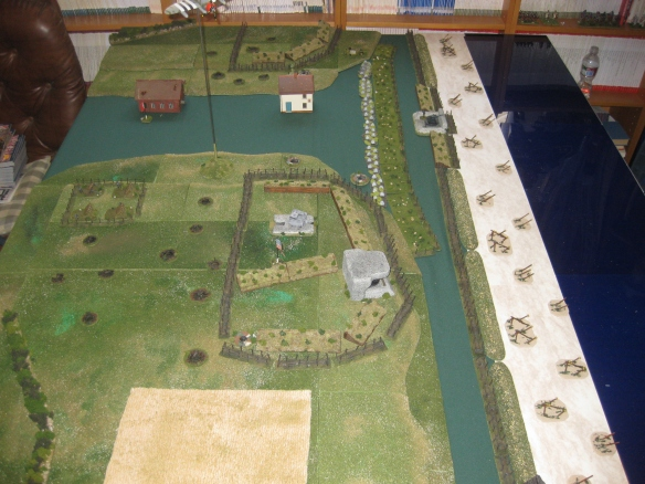 Overview of the eastern test section of Omaha beach D-Day scenario.