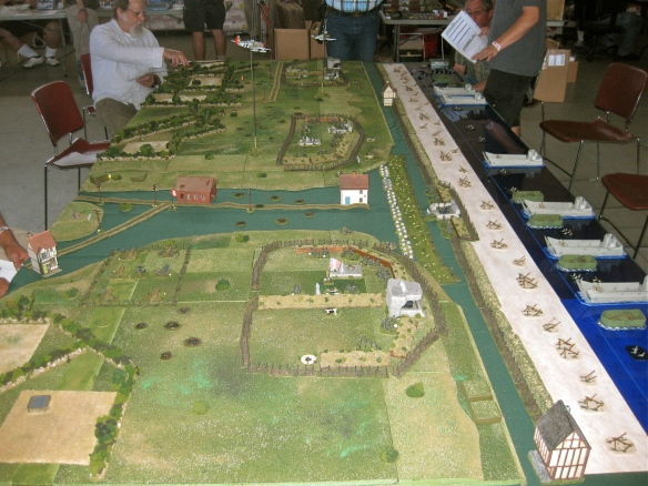 Westward view. Opening positions Omaha Beach D- Day Flames of War scenario.