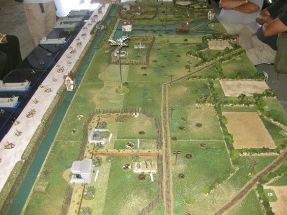 Eastward view. Opening positions Omaha Beach D- Day Flames of War scenario.