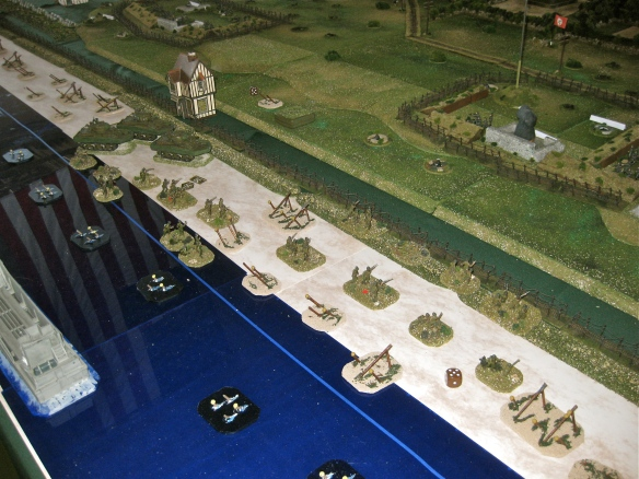 Further west the Germans cut down the American soldiers as they splash ashore.