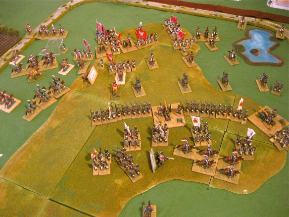 Russian light cavalry seek to turn the Polish flank as their Corps commander is wounded.