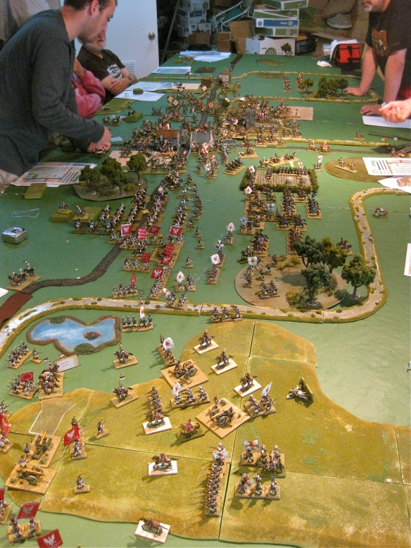General view of the tabletop top action.