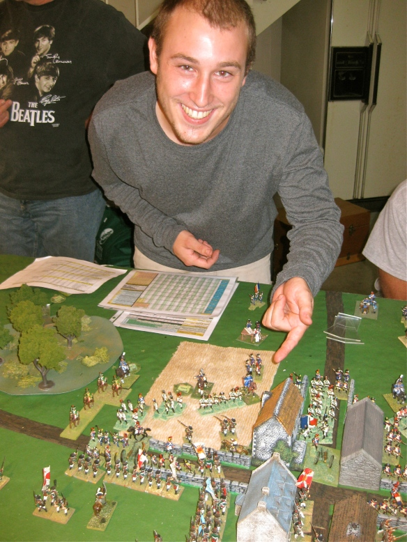 Daniel as French town defender smiling.... holding well against the elite Russian grenadier division with ordinary French line.