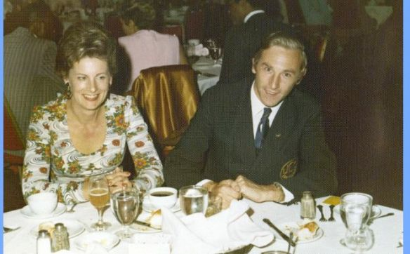 Southern California Cricket Assoc. (SCCA) banquet with Mom (60's).