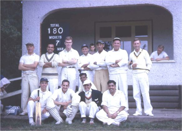 With the UCLA University Cricket team in the early 60's.