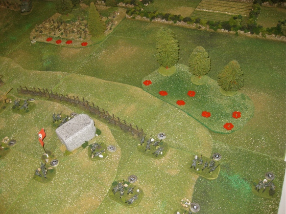Turn Eight has heavy American losses. The left flank rifle platoon was wiped out and the weapon platoon savaged by German return fire.