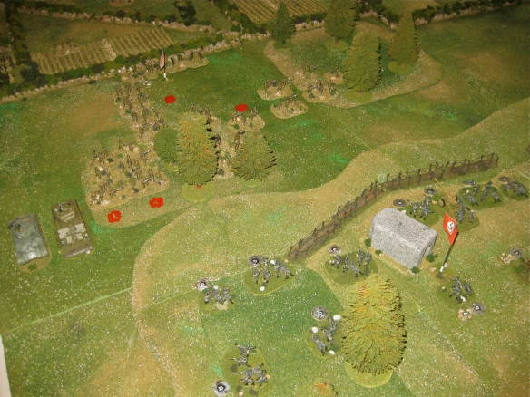 Turn Eleven shows more American losses approaching the hill via the small woods.