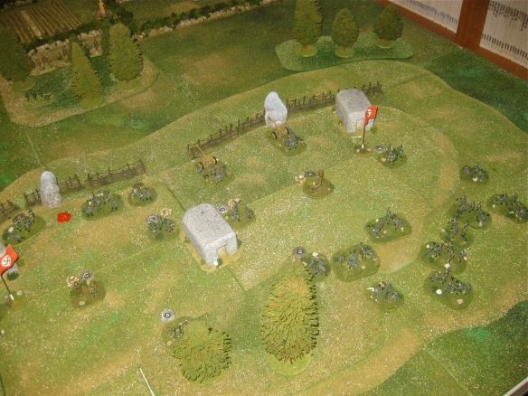 Seeing the American effort is only on the German left flank, Daniel starts marching his right flank grenadier platoon around the back side of the hill to reinforce the left.