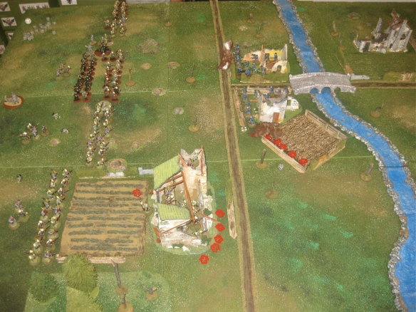 Overall view of the game after two turns (out of 8 scheduled for scenario).