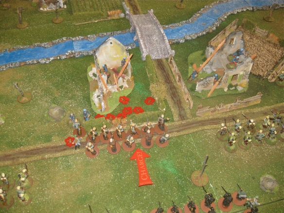 French token resistance... German bayonets rip apart the French infantry.