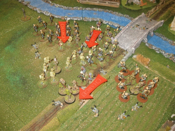 German reserve platoons charge int o the waving English lines. Destroy the BEF!
