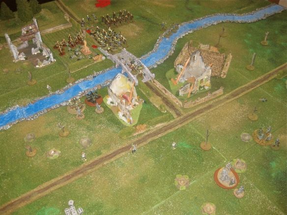 End of the battle. German march off the tabletop and the French countryside becomes quiet again... except for the sounds of wounded soldiers.