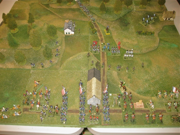 Opening deployments and situation facing the Prussian 2nd Brigade as the French under Napoleon have arrived.