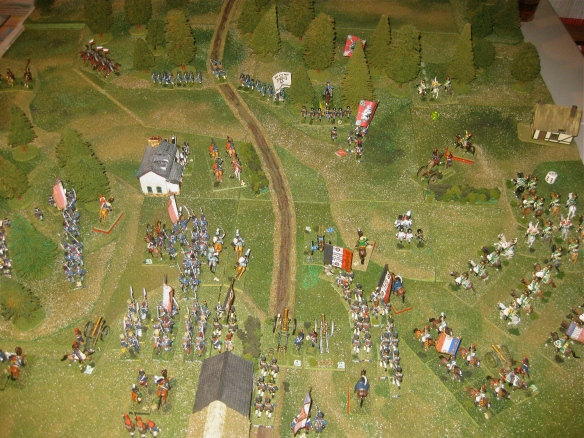 1840 hours French turn done. One Prussian square breaks from losses taking the Prussian artillery crew with them.