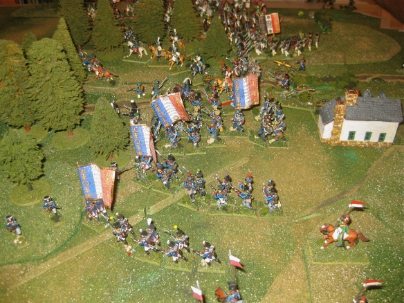 1940 hours has the French infantry advancing to the attack in the center.