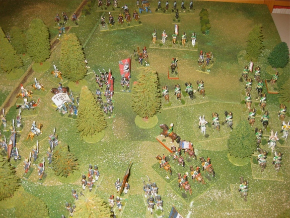 2000 hours has the Prussian battalions retiring from the French column assault. Why didn't the Empress dragoons charge WR?
