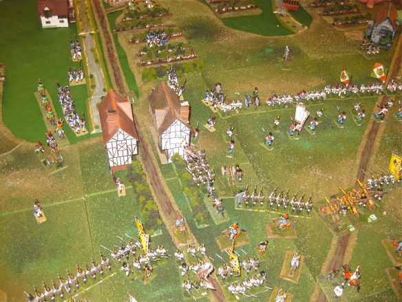 Having secured half of Procia, the Austrians try to seize the other half with a battalion assault.