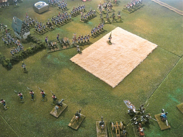 Wisely column Volkmann retires from the French left flank masses.