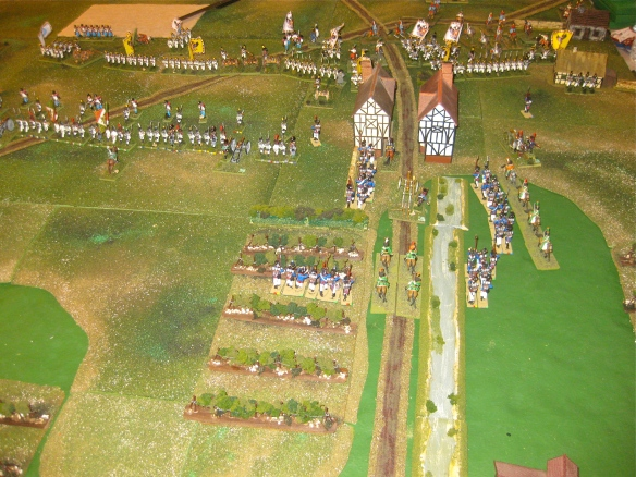 French counterattack columns attempt to seize control of Procia once again.