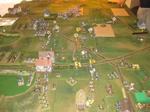 General view of the battle at 1140 hours.