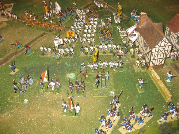 Massed Austrian white coats advance for the victory!