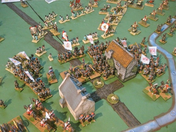 Table B. Having cleared the village, the central Bavarian division surges into the Dutch position behind.