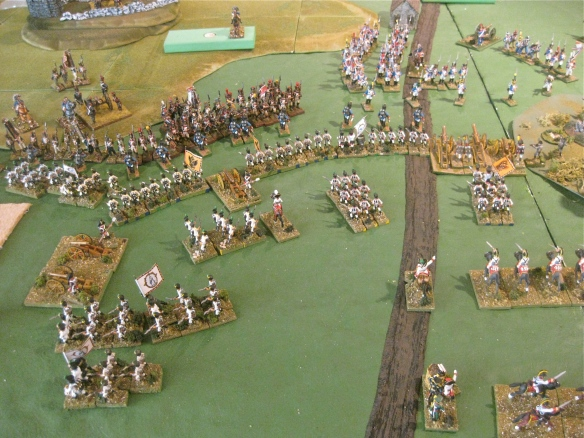 Table A. First French assault repulsed, the Austrians form their lines to await the next French attempt.