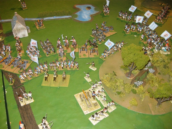 Table B. Central Bavarian division breaks into the Dutch positions near the woods.