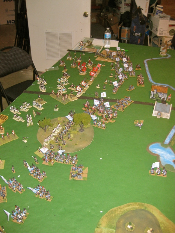 Table B. Near the end, the Dutch are retiring from this tabletop for Bavarian win.