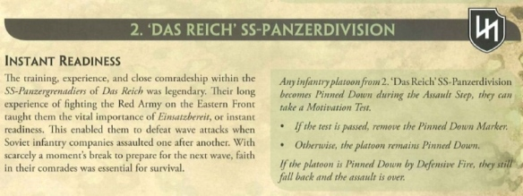 2nd SS Das Reich Division Instant Readiness rule.
