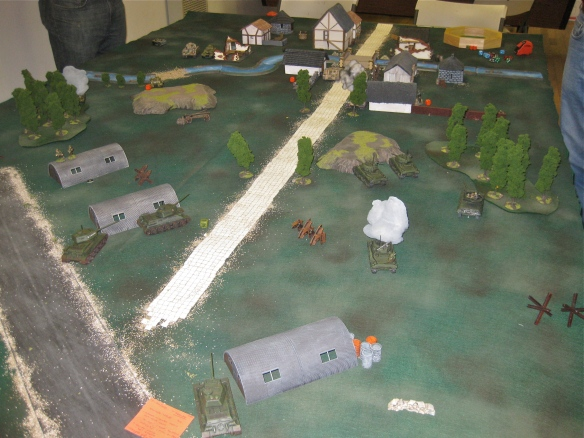 Bolt Action scenario featuring Germans and Russian contesting over the open runways.