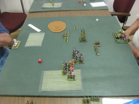DBA gaming. Not sure of the armies in use but late mediaeval period.