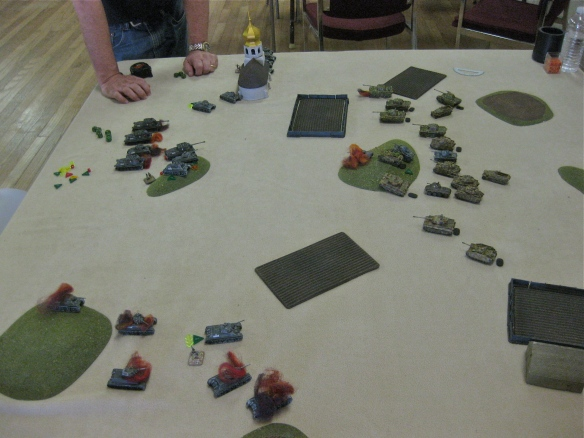 Blitzkrieg Command scenario with German and Russian armor battle.