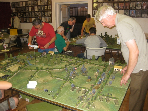 Eugene handles the German Northern column as WR figures out what is left from the German Southern column to move.