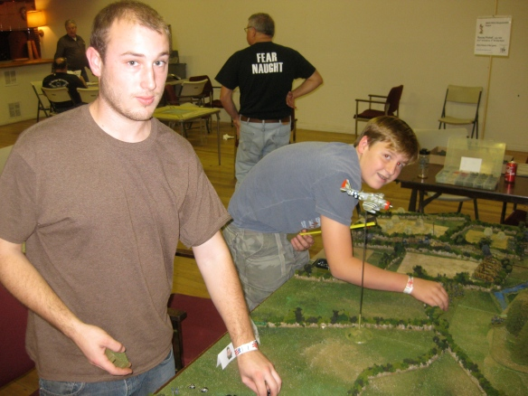 Our German opponents, Daniel and Sam.