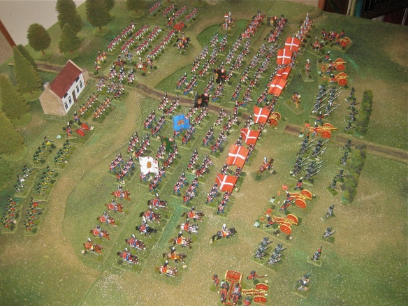 Right flank view of the Danish army.