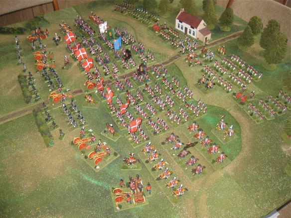 Left flank view of the Danish army.