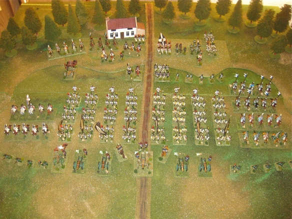 Westphalian napoleonic army paraded for review.